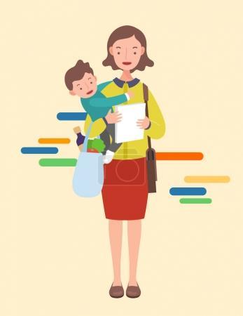 工作妈妈与宝宝