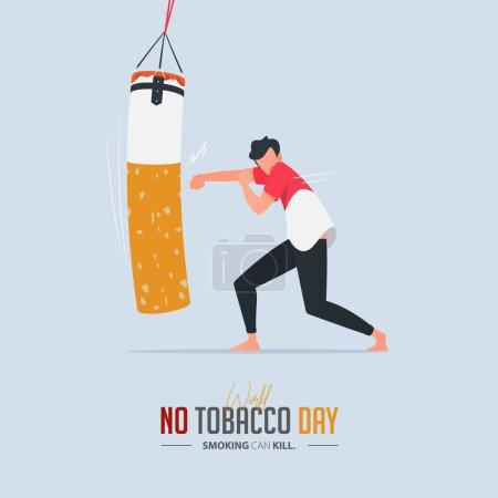 无烟日插图元素