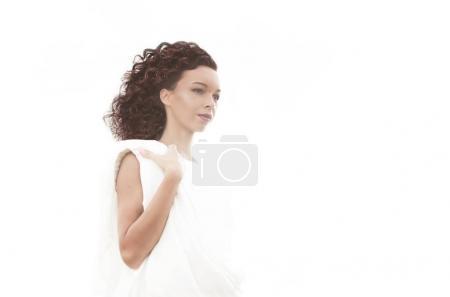 女人的漂亮的卷发发型