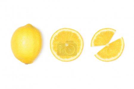 新鲜的柠檬片