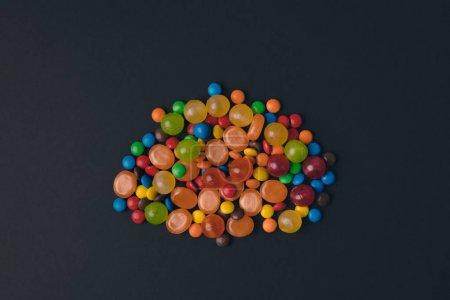 多彩的万圣节糖果