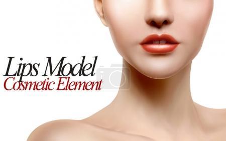 嘴唇模型肖像