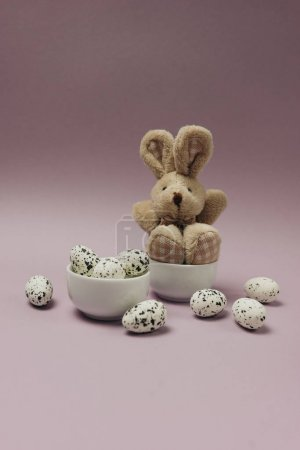Easter composition made with  eggs. Creative holiday concept