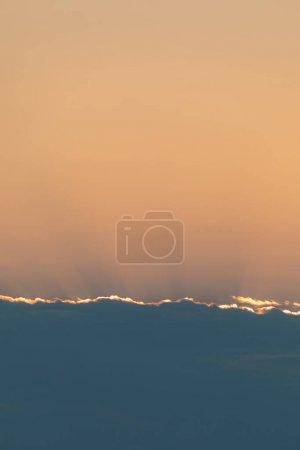 云缘和夕阳在云后