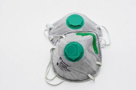 2020-01-05保护罩P2gv碳一次性口罩,适用于防烟浓雾颗粒Pm2.5
