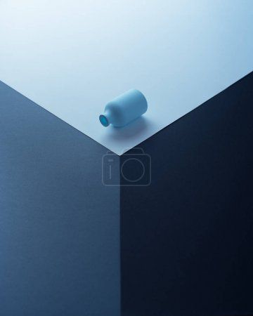 Small blue bottle