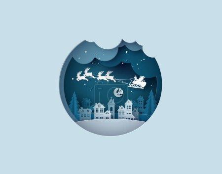 圣诞快乐和新年快乐插图