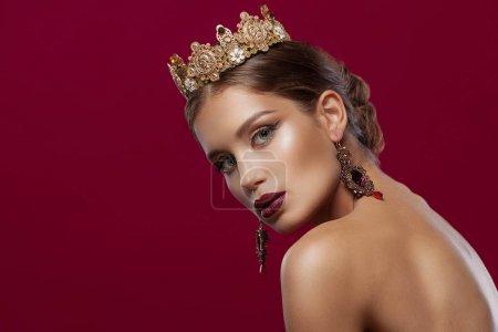 华丽时尚妆容女模特