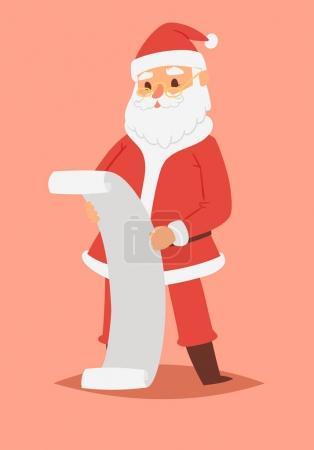圣诞圣诞老人矢量人物姿势插图圣诞节男子在红色的传统服装和圣诞老人帽子