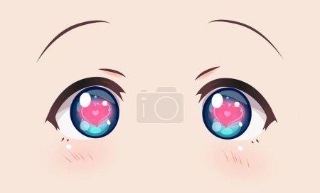 Loving eyes, anime (manga) girls