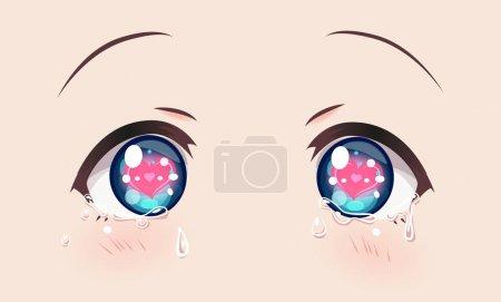 Loving crying eyes, anime (manga) girls.
